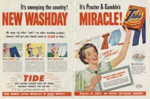 Tide manipulation in advertising.